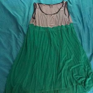 Dresses & Skirts - Stripes and green dress